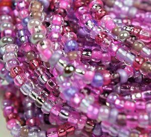 """Czech Glass Seed Beads Size 10/0 """" MIXTURE LILAC """" 1 Hank"""