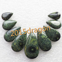 9Pcs Beautiful Kambaba Jasper Teardrop Pendant bead Set Lin1028037