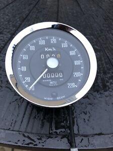 Austin Healey Bj8  Big Healey Kph Recon Speedometer 220 Outright /exchange