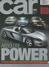 CAR MAGAZINE  FEBRUARY 2001  AUDI A2 v RIVALS   LS