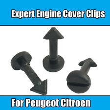 x6 Clips For Peugeot Citroen 16V Expert Engine Cover Clips Black Plastic