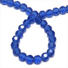 Lot de 50 perles à FACETTES 4mm en Cristal DE Bohème Bleu