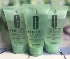 Clinique Liquid Facial Soap Mild 3 x 30ml Travel Dry Combination New *FAST POST*