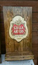 Stella artois  sign plaque  wooden  gift mancave shed bar pub bespoke handmade