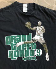 "Vintage Boston Celtics Rajon Rondo #9 ""Grand Theft Rondo"" T Shirt Sz Large / Lrg"