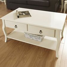 Marianne Ivory Painted Living Room Furniture - Tables TV Unit Sideboard Coffee Table