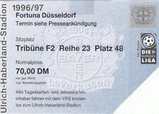 Ticket - Bayer Leverkusen v Fortuna Dusseldorf 1996/7