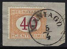 Regno - 1870/74 - Segnatasse cent.40 - usato - Sassone n.8