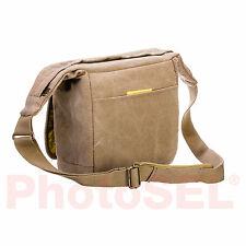 PhotoSEL BG431Y Canvas Camera Shoulder Bag Sling Bag with Rain Cover - Khaki
