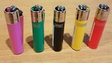 5 X Clipper Silver Top Lighters Refillable Gas Cigarette Lighter