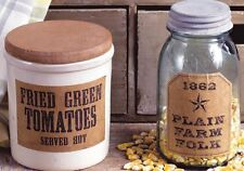 Fried Green Tomatoes 26 Primitive Farmhouse Pantry  Labels