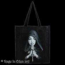 GOTHIC PRAYER Angel Art Polypropylene Shopping Tote Bag By Anne Stokes 39x35cm
