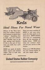 """1921 Keds Boat Shoes Print-Ad/ """"For Naval Wear"""""""