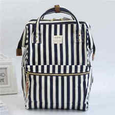 Japan Anello Women Backpack Laptop Bag Zebra Stripes Unisex Students Mummy Bag