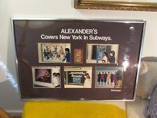 VINTAGE ADVERTISEMENT ALEXANDER'S DEPARTMENT STORE COVERS NYC SUBWAYS ART PHOTOS