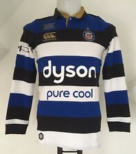 BATH RUGBY 2016/17 L/S CLASSIC HOME JERSEY BY CANTERBURY SIZE BOYS 12 YEARS NEW
