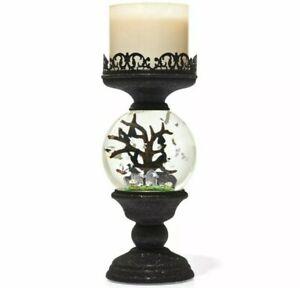2021 Bath & Body Works Halloween Water Globe Light Up 3 Wick Candle Holder