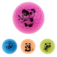 Golf Driving Range Practice Ball Double Layer Golf Ball Cute Panda Pattern