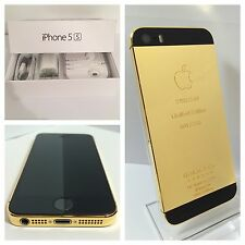 CUSTOM 24k GOLD Plated iPhone 5s - 32GB - (Unlocked) w/box & accessories