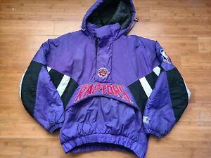 Rare Vintage Mens Starter Toronto Raptors 3/4 Pullover Jacket Size Medium