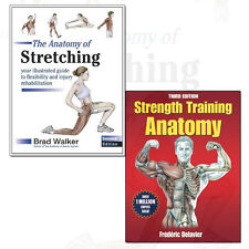 Strength Training Anatomy and Anatomy of Stretching 2 Books Collection Set NEW
