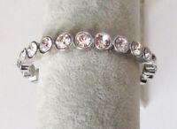 "Premier Designs 7"" Silver Crystals Bracelet RV$44"