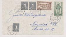 BERLIN, Mi. 132/33 + Bund 1 Pfg-Marken, Berlin SW 11, 15.12.55