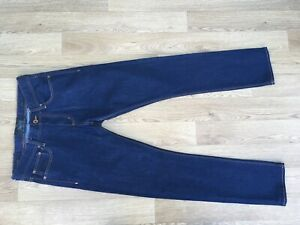 Superdry Mens Slim Jeans 33W 32L Stretch Blue (930)