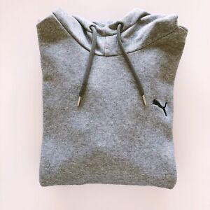 Puma Mens Windcheater Sport Hoodie Fleece Size L Grey Long Sleeve Logo Cotton/El