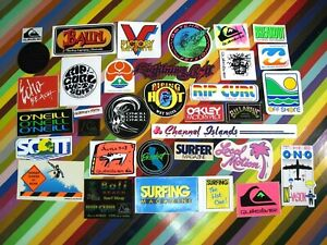 vtg 1980s Asstd. surf street sticker - Morey Boogie Bolt HIC +