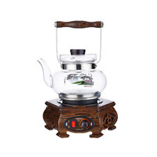 Electric kettle 0.8L Glass Health pot teapot cooker jug kitchen Wenge wood china