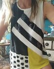 "Sass & Bide ""Amante Amore"" Embellished Tee Tank Top sz XS"