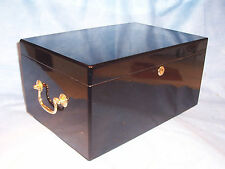 Don Salvatore Deluxe Ebony 150 Cigar Humidor Humidistat Humidifier Cedar Box