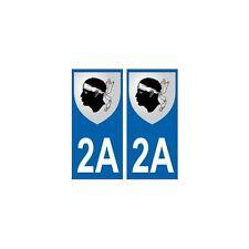 2A Corse autocollant plaque blason armoiries stickers département arrondis