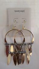 JOHN LEWIS - BNWT - Large Statement Drop Dangle Gold Tone Earrings