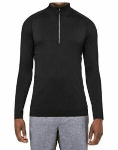 Lululemon Mens Metal Vent Tech 1/2 Zip Pullover Long Sleeve Black Size XL