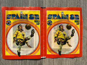 FKS Spain 82 World Cup Unopened Sticker Packets x 2 Still Joined