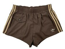 adidas vintage Shorts Gr. D5 M  Sporthose Badeshorts braun 80s 80er CS5