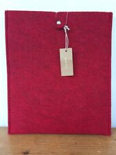 New NWT West Elm Red Felt Tablet Carrying Case iPad Holder Sleeve Folio Pouch