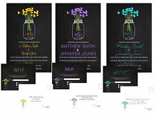 Wedding Invitations Mason Jar Chalkboard 50 Invitations & RSVP Cards Any Colors