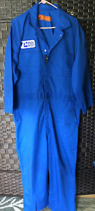 Vintage 1970's Flight Suit Blue Overalls Jumpsuit / Pilot Mechanic - SZ 50-RG