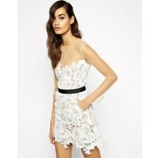 Woman Clothes Self Portrait Harmony Lace Cutwork Dress With Mesh Sleeves
