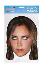 Victoria Beckham Posh Spice Face Party Mask Card A4 Fancy Dress Music Kids Becks