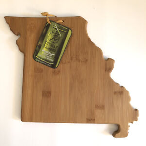 Totally Bamboo State Shaped Cutting & Serving Board, Missouri