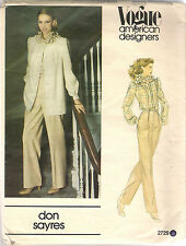 Vogue Pattern 2729 Don Sayres, Vintage Jacket, Shirt, Pants, Size 8
