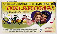 Oklahoma! (1955) Gordon McRae Cult Western movie poster 22x36 inches