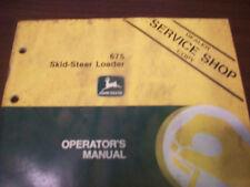 John Deere Tractor Operator'S Manual 675 Skid-Steer Loader B6