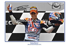 *CASEY STONER* Large signed poster of Moto GP world champion. Winners edition!