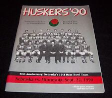 Nebraska Huskers vs Minnesota Gophers Game Program Magazine 1990