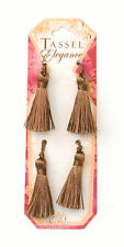 E5970  ~ SET OF FOUR (4) COCOA MINI TASSELS  2""